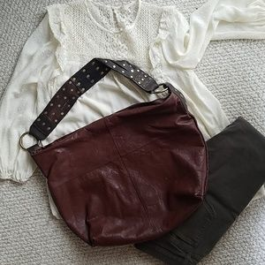 Lucky Brand leather boho purse